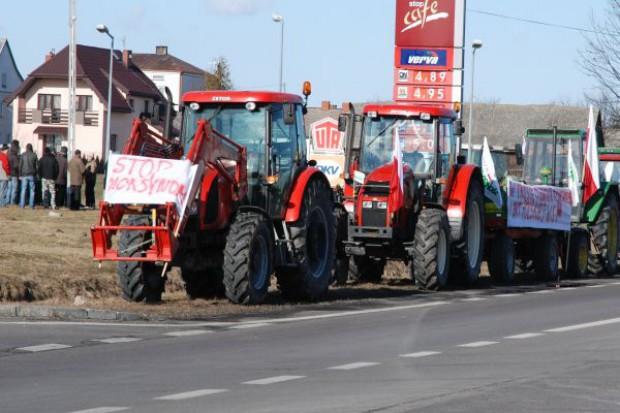 Protest rolników w Radzyniu Podlaskim
