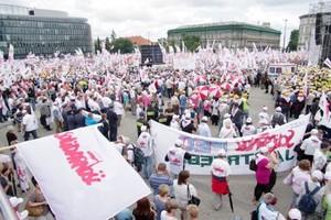 Rolnicy z Solidarności protestowali w Warszawie