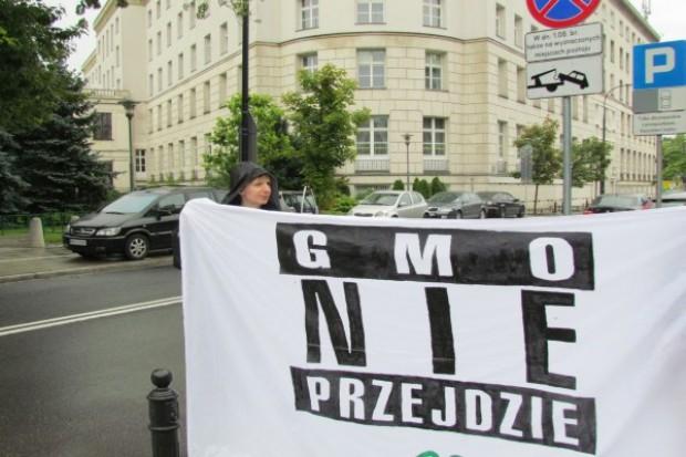Protest przeciwko ustawie o nasiennictwie