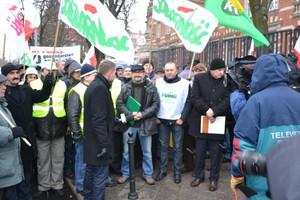 Protestujący w Szczecinie są pod ANR