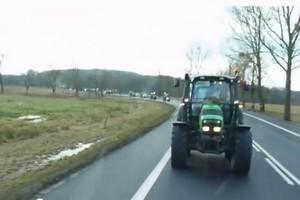 Strajk rolników. Blokada krajowej 6-tki