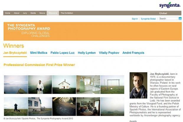 """Polak wygrał konkurs fotograficzny """"Syngenta Photography Award"""" 2013"""