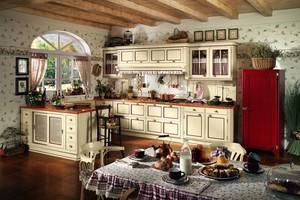 Klasyczna kuchnia w wiejskim stylu