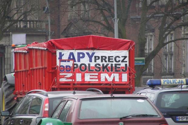 Protestujący w Szczecinie oburzeni postawą ministra Sawickiego