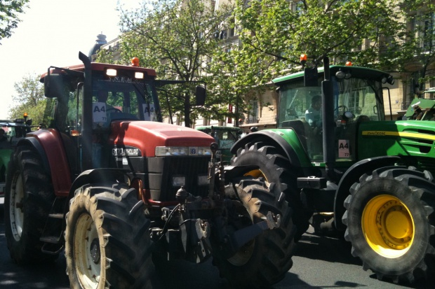 Protest rolników w stolicy Francji