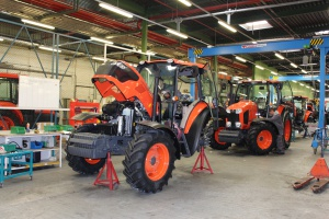 Ciągniki Kubota ‒ produkcja w Japonii, ostatnie zabiegi montażowe ‒ w Kutnie