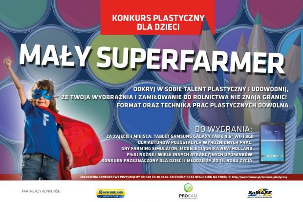 """Konkurs plastyczny dla dzieci """"Mały SUPERFARMER"""". Wygraj atrakcyjne nagrody!"""