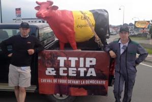 W Brukseli demonstracja przeciwko TTIP i CETA