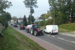 Protest rolników: Przejazd traktorów przez Łosice (zdjęcia)