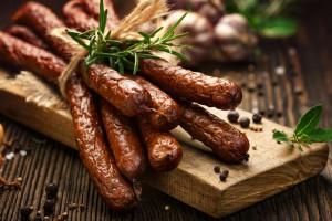 Kiełbasa piaszczańska z Krakowa z unijnym certyfikatem produktu chronionego