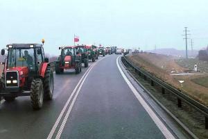 Traktory na drogach! Kolejne rolnicze protesty pod Sieradzem