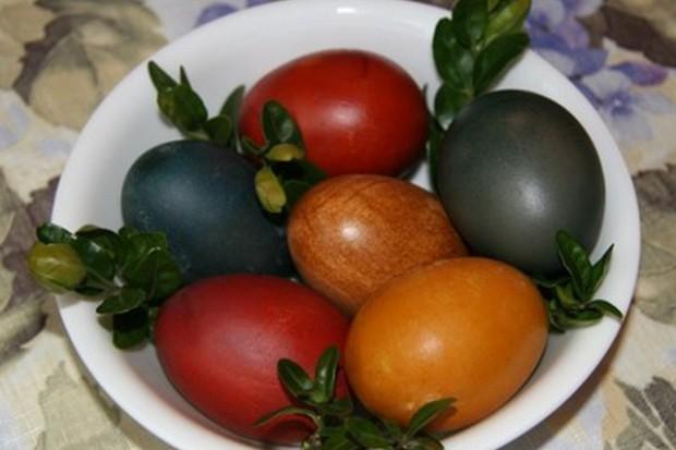 Naturalnie barwione pisanki-kraszanki