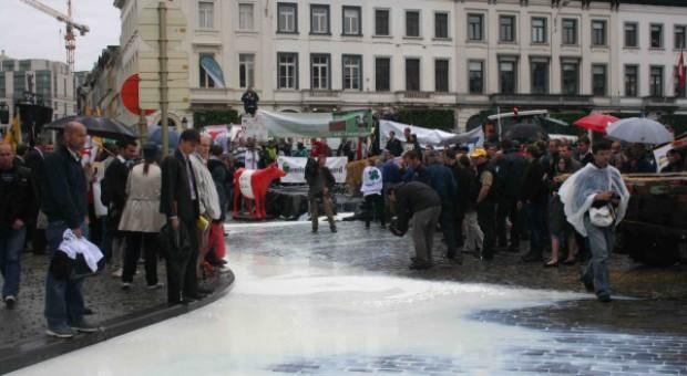 Rzeka mleka w Brukseli