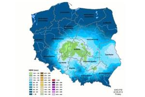 Zagrożenie wystąpienia suszy rolniczej w trzech województwach