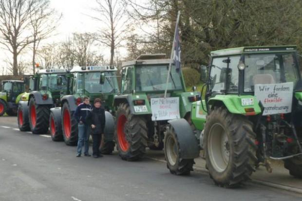 Traktory jadą na Brukselę