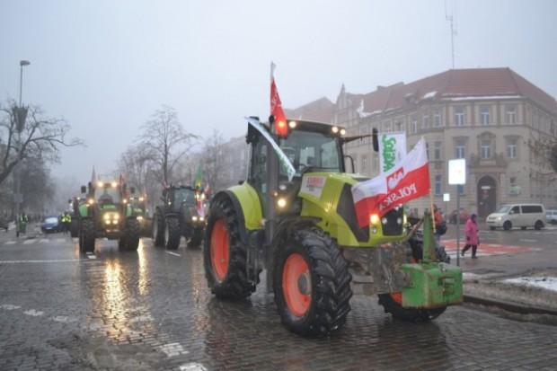 Traktory jadą do Szczecina