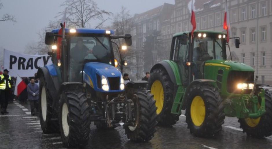 Blisko sto ciągników blokowało Szczecin