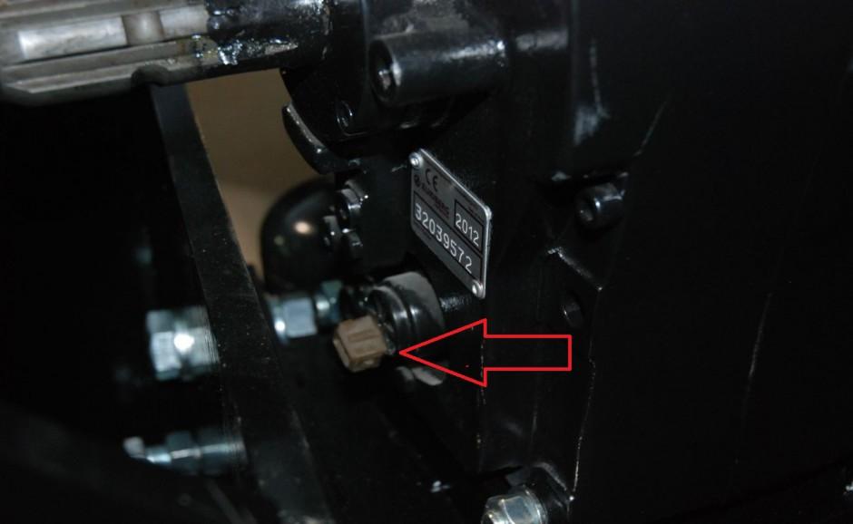 Kostka elektryczna do rozłączania napędu WOM, fot. kh