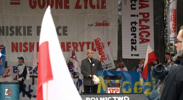 Rolnicy wzięli udział w sobotniej demonstracji w Warszawie