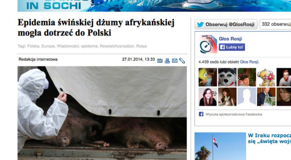 Głos Rosji: ASF mógł dotrzeć do Polski