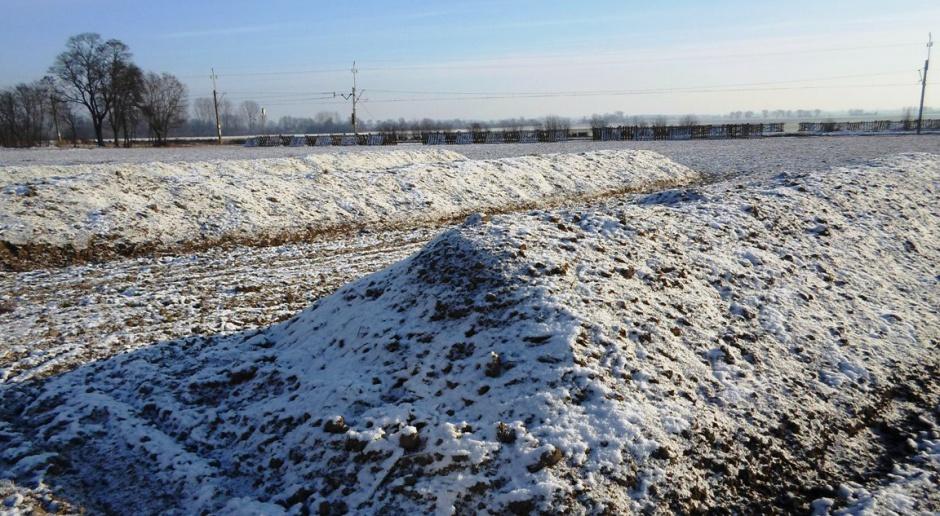 Okrywa zimowa kopców ziemniaczanych