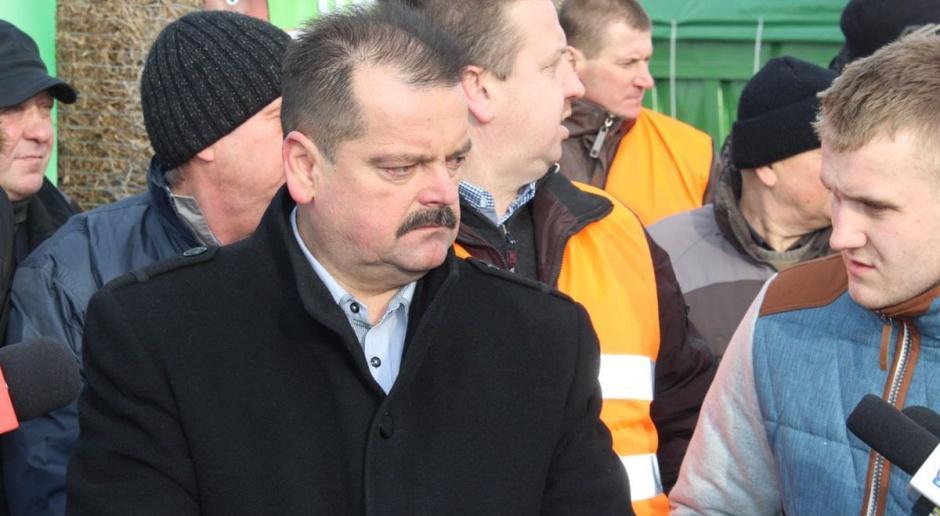 Protest rolników przed siedzibą PiS w Warszawie