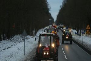 Rolnikom nie pozwolono na wjazd ciągnikami do Bydgoszczy i Grudziądza