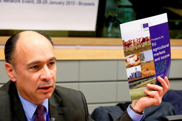 Prognozy KE wielkości produkcji oleistych w UE do 2024