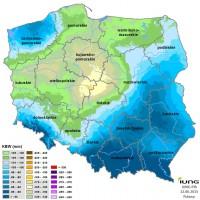 Wartości Klimatycznego Bilansu Wodnego, Źródło: IUNG