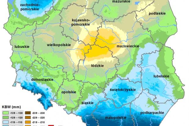IUNG: Nadal duży deficyt wody – wysoka ewapotranspiracja