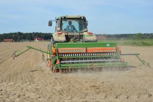 Siew rzepaku w Wielkopolsce – relacja z pola