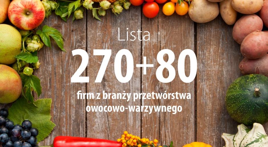 Największe firmy w branży przetwórstwa owocowo-warzywnego