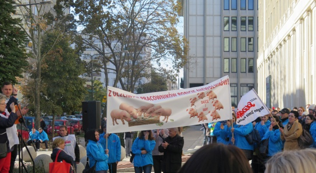 Pracownicy ARiMR protestowali w Warszawie