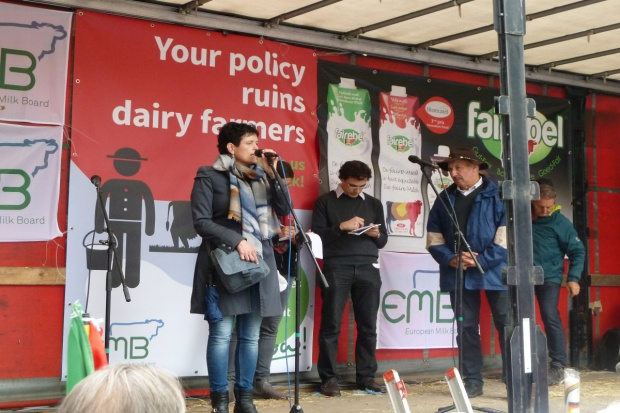 Protestują unijni producenci mleka