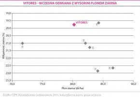 VITORES - WCZESNA ODMIANA Z WYSOKIM PLONEM ZIARNA