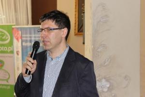 Dariusz Szopa, Dyrektor działu Blattin Technika omawiał różnice między wozem paszowym Pionowym i poziomym, fot.Ł.Chmielewski