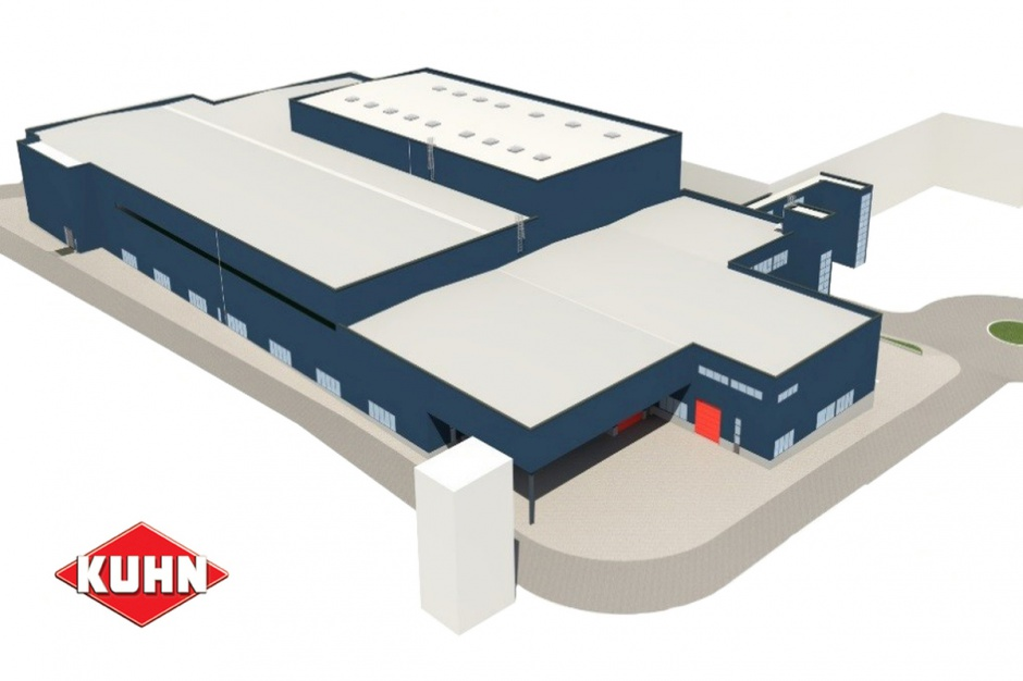 Główne Centrum Logistyczne Kuhn w Savene (Francja) - wizualizacja, fot. Kuhn