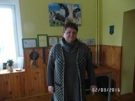Dorota Głowacka u siebie w biurze