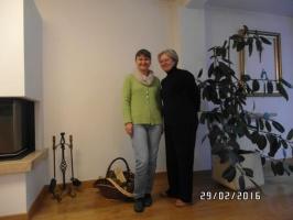 W domu u Doroty Kuźniackiej. Z lewej Renata Dorsz (Osadkowski SA)