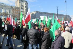 """Manifestacja PSL """"w obronie polskiej ziemi"""" (zdjęcia)"""