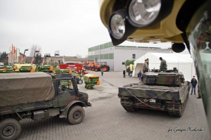 Na tegorocznym Dniu Otwartym można było podziwiać m.in. czołg Leopard, fot. Agromix