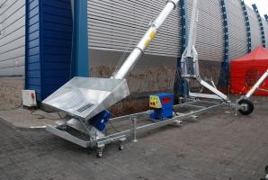 Przenośnik ślimakowy z hydrauliczną regulacją wysokości