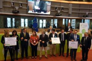 W trakcie Kongresu wyróżniono zgłoszone do konkursu, najlepsze projekty, których inicjatorami byli młodzi unijni rolnicy. Fot. Radosław Kobus