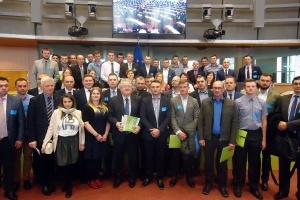 Na Kongresie Polskę reprezentowała silna grupa młodych rolników. Fot. Radosław Kobus