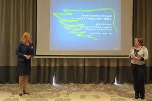 Od lewej Katarzyna Gallewicz - Menedżer ds. Marketingu Produktów Nasiennych, Helen Fomina  - Menedżer ds. Rozwoju Produktów Oleistych w regionie Europa.