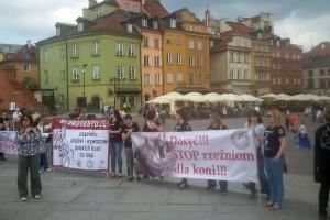 Protest przeciw ubojowi i wywozowi polskich koni na rzeź