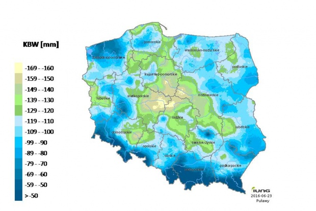 IUNG PIB Puławy: Zasięg suszy nieco mniejszy