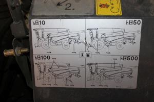 Schematy umieszczone na maszynie informują o punktach smarowania i czasie po którym w dane miejsce powinien zostać naniesiony smar, fot. K. Hołownia