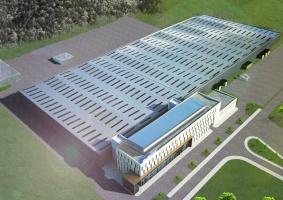 Budowa nowej fabryki SaMasz w Zabłudowie - wizualizacja, fot. SaMasz