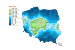 Najniższe wartości KBW notowane są w Centrum Polski. Fot; IUNG